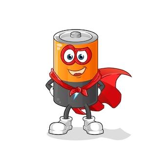 Héroes de la batería. personaje animado