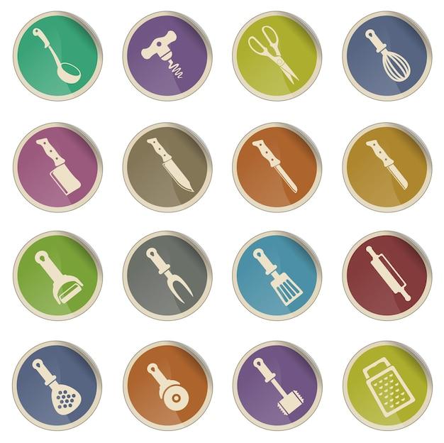 Herramientas de cocina. simplemente símbolo de iconos web