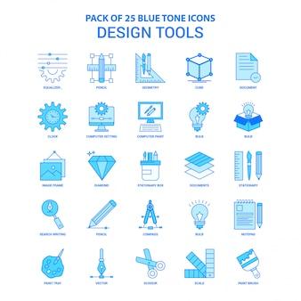 Herramientas de diseño blue tone icon pack