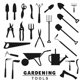 Herramientas de jardinería, equipos agrícolas para agricultores.