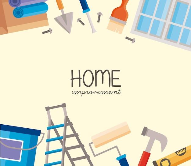 Herramientas de marco de mejoras para el hogar alrededor