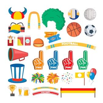 Herramientas de partidarios del equipo deportivo
