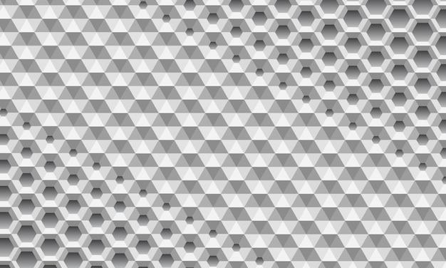 Hexágono abstracto superficie de panal 3d.