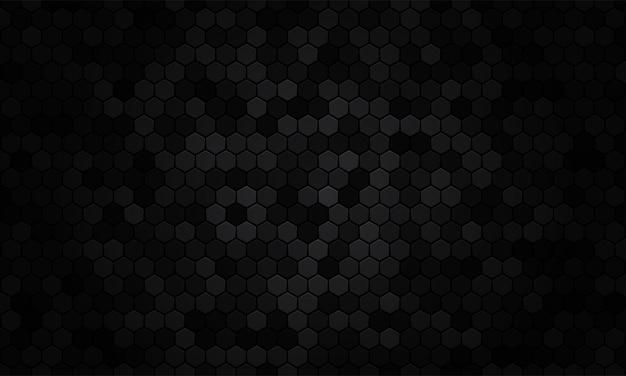 Hexágono de fondo abstracto textura negra