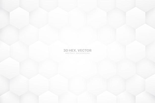 Hexágonos blancos tecnología minimalista resumen antecedentes