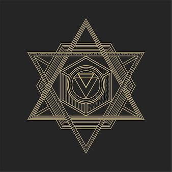 Hexagrama de geometría sagrada