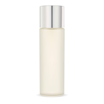 Hidratante de vidrio opaco botella cosmética. paquete