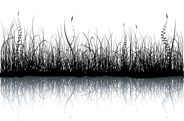 Hierba - aislada en blanco