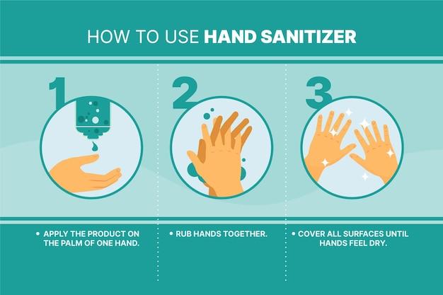 Higiene personal con desinfectante de manos