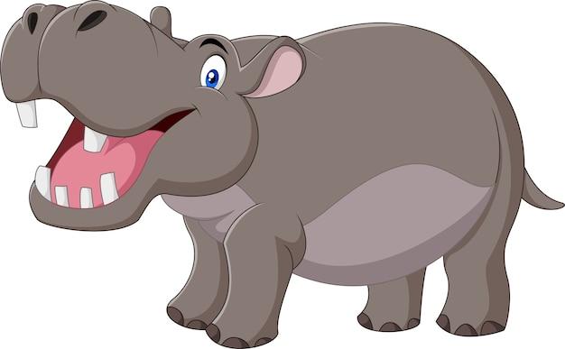 Hipopótamo con la boca abierta