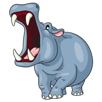 Hipopótamo lindo de dibujos animados