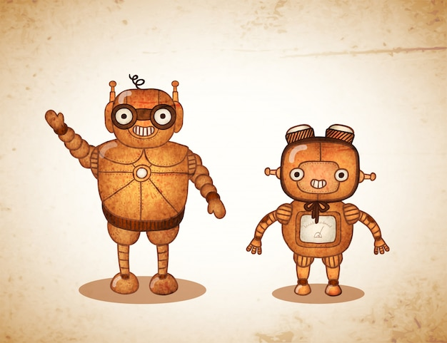 Hipster amigable robots