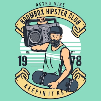 Hipster boombox