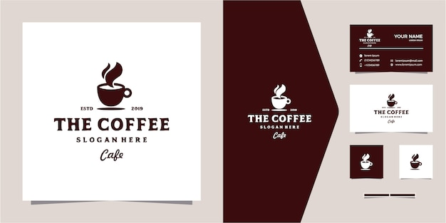 Hipster coffee logo