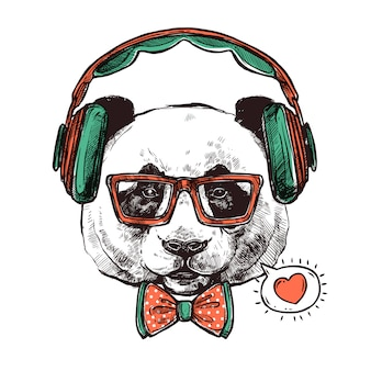 Hipster retrato animales