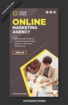 Historia de instagram de agencia de marketing digital y plantilla de redes sociales
