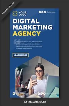 Historia de instagram de agencia de marketing digital