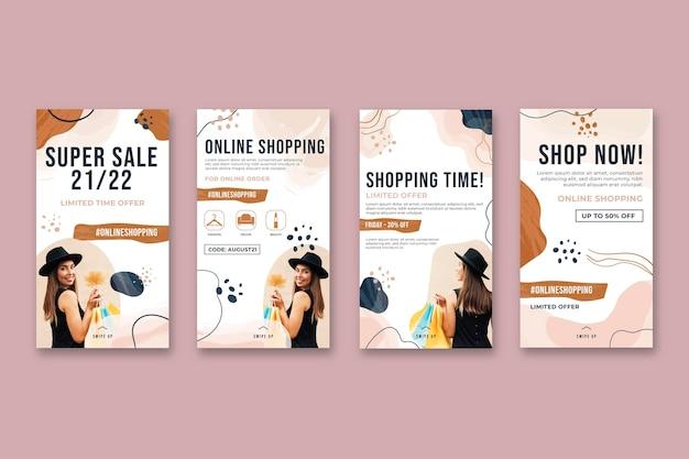 Historia de instagram de compras en línea