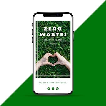 Historia de instagram de ecología de cero residuos