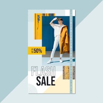 Historia de instagram de moda flash geométrica moderna