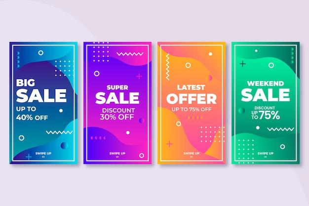 Historias coloridas abstractas de la venta de instagram