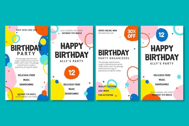 Historias de cumpleaños en instagram