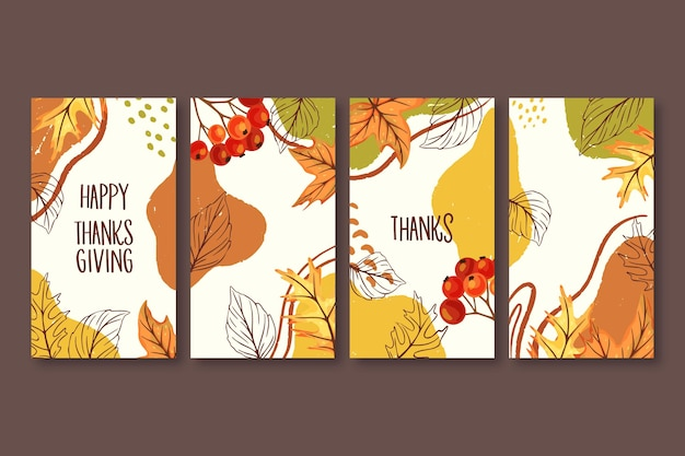 Historias de instagram de acción de gracias