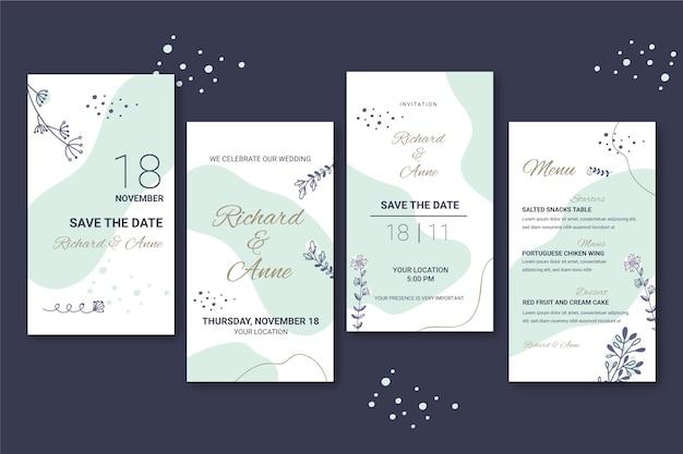Historias de instagram de bodas florales