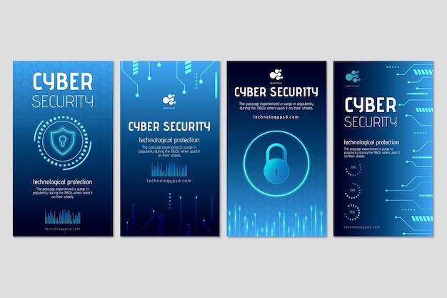 Historias de instagram de ciberseguridad