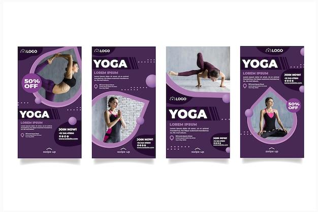 Historias de instagram de clases de yoga