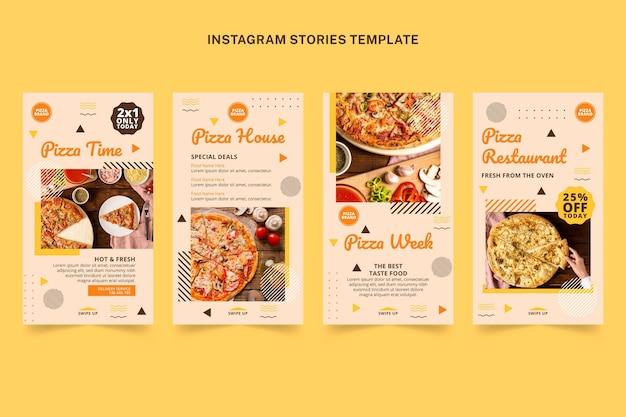 Historias de instagram de comida plana
