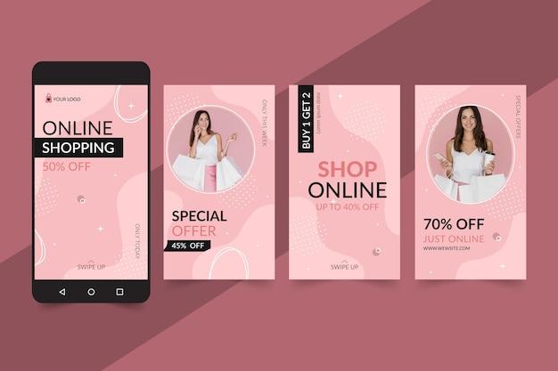 Historias de instagram de compras en línea