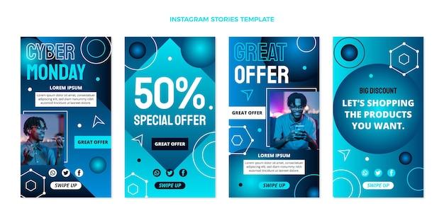 Historias de instagram de cyber monday