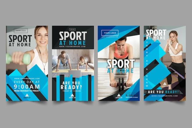 Historias de instagram de deporte en casa