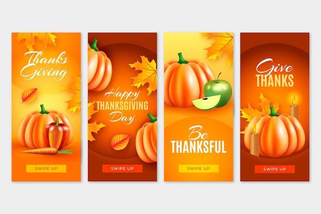 Historias de instagram del día de acción de gracias