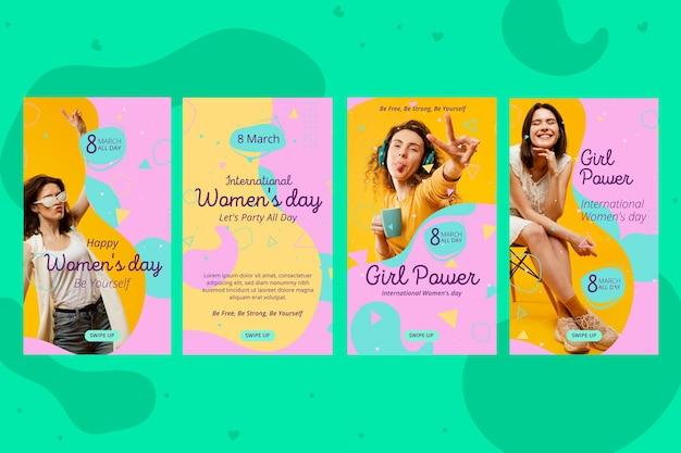 Historias de instagram del día internacional de la mujer