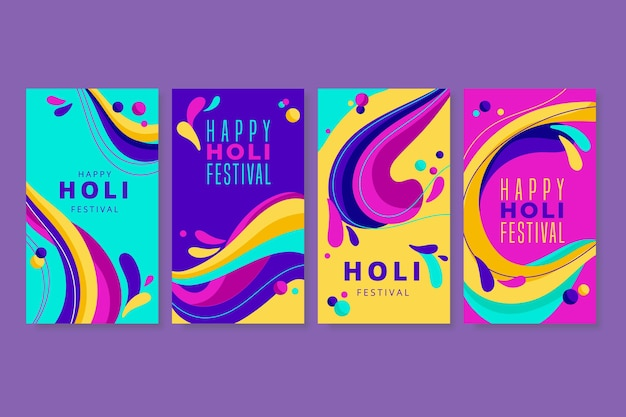 Historias de instagram del festival holi