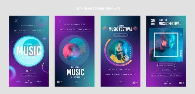 Historias de instagram del festival de música gradiente