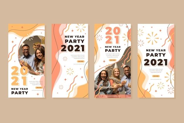 Historias de instagram de fiesta de año nuevo 2021