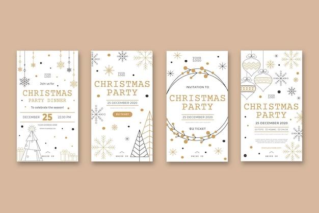 Historias de instagram de fiesta de navidad