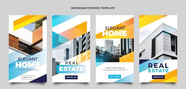 Historias de instagram de gradiente de bienes raíces