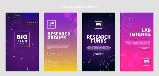 Historias de instagram de gradiente de ciencia