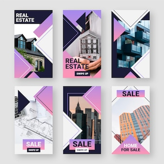 Historias de instagram inmobiliarias planas