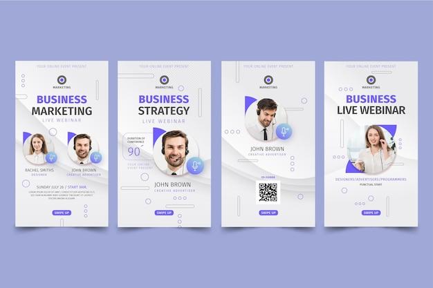 Historias de instagram de marketing empresarial