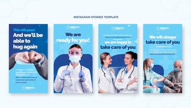 Historias de instagram médicas planas