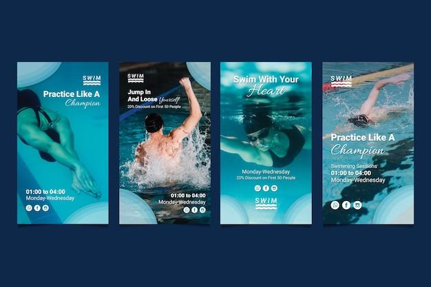 Historias de instagram de natación