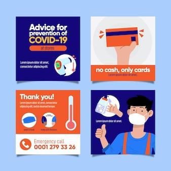 Historias de instagram de prevención de covid-19