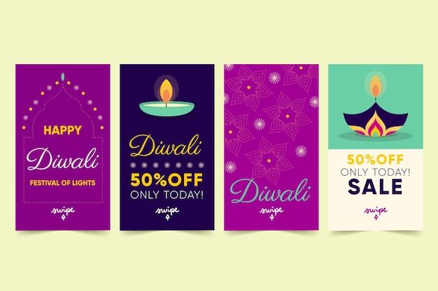 Historias de instagram de rebajas de diwali
