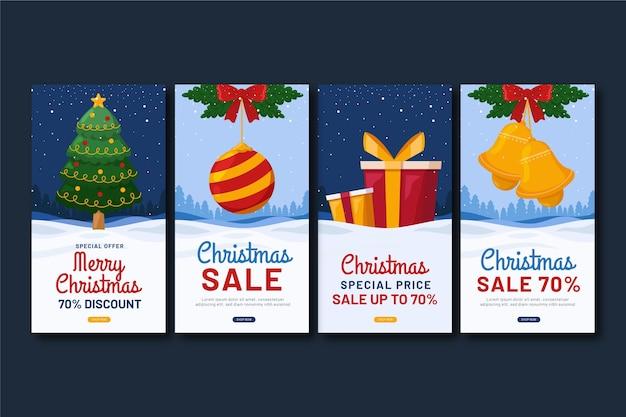 Historias de instagram de rebajas de navidad