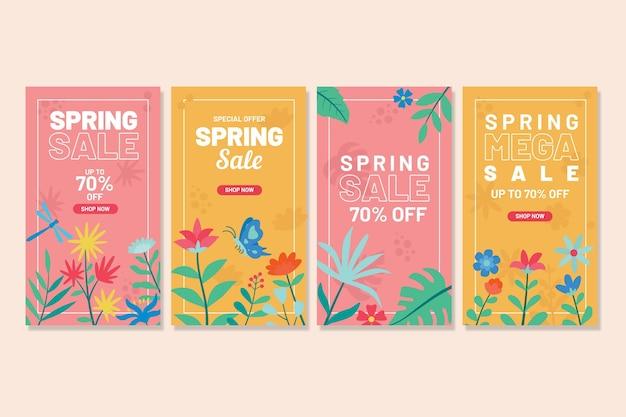 Historias de instagram de rebajas de primavera